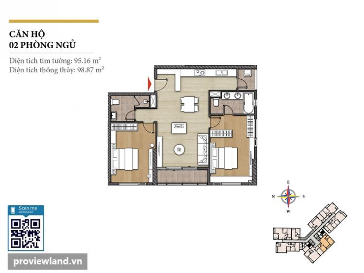 Diamond Island layout Hawaii apartment 2 bedrooms