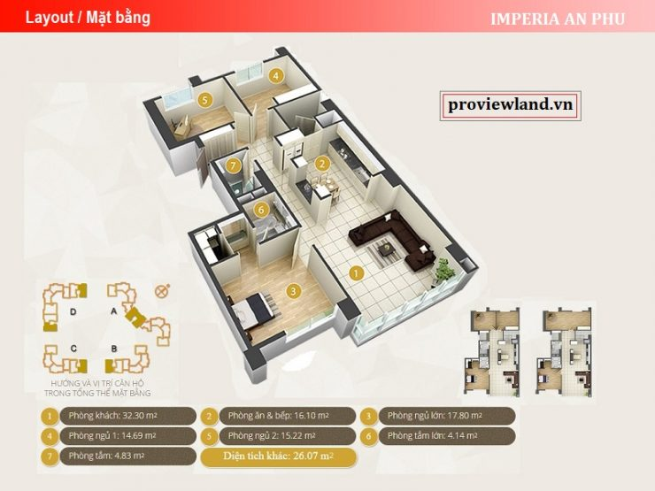 Imperia An Phu layout apartment 3 bedrooms 131m2