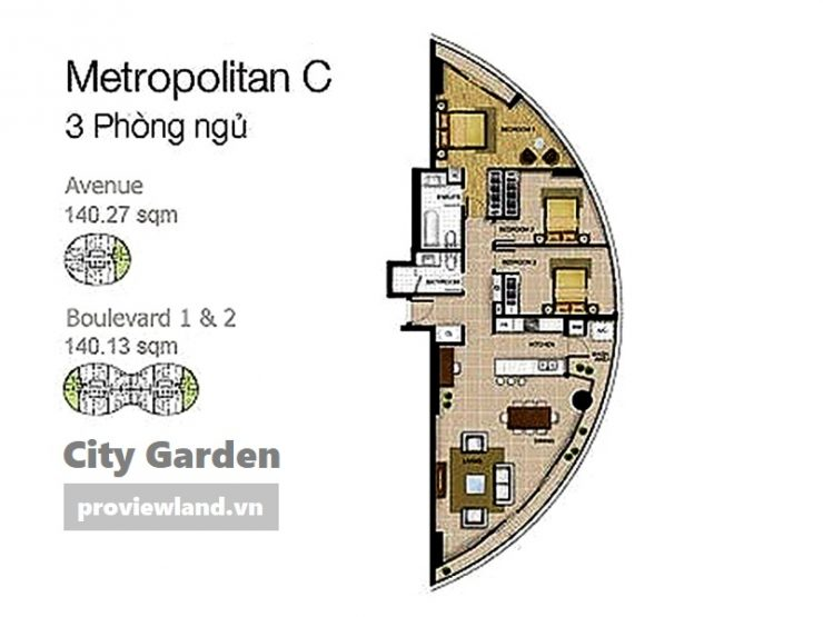 City Garden layout Avenue Boulevard 3brs