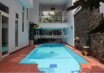 Villa for rent in Thao Dien area 10x20m beautiful pool with 4 bedrooms