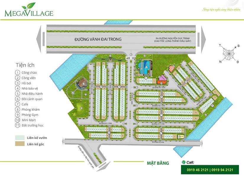 Mega Village villa layout