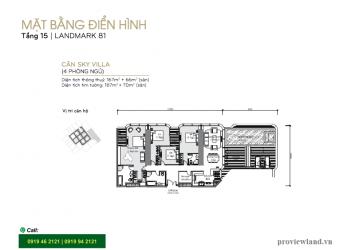 Sky villa for rent at Landmark81 Vinhomes Central Park