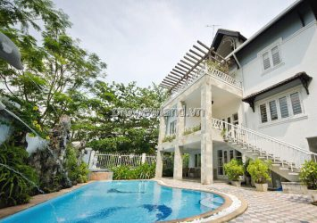 Compound Thao Dien villa area 700m2 7BRs 4 floors garden pool for rent