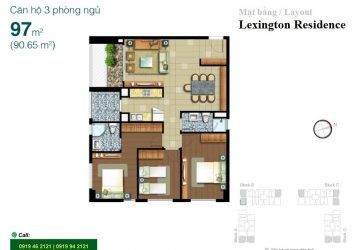 Apartment for rent in Lexington Residence with 3 bedrooms high floor