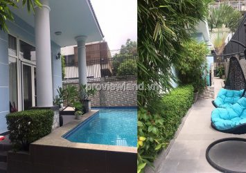 Thao Dien Nguyen Van Huong villa for rent 7 rooms with garden pool