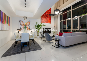 Duplex/ Penthouse apartment for rent in The Vista An Phu 4BRs 400sqm river view