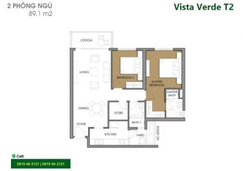 Need for rent apartment at Vista Verde District 2 river view nice furniture with 2 bedrooms