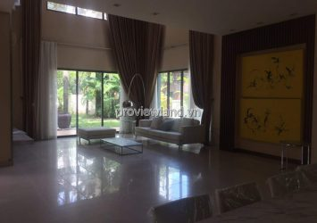 Villa Riviera for rent in District 2 with area 408m2 1 ground 2 floors fully furnished