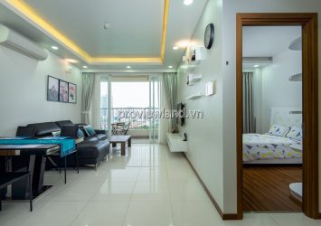 Thao Dien Pearl apartment for rent with 2 bedrooms low floor view Saigon bridge