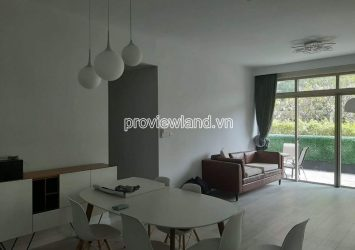 Apartment with 4 bedrooms for rent in The Vista An Phu G floor has garden