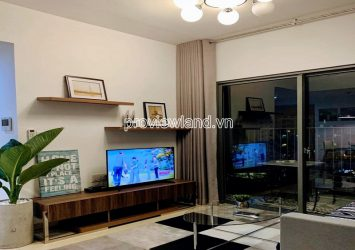 High floor apartment for rent block T2 at Masteri Thao Dien with 2 bedrooms nice view