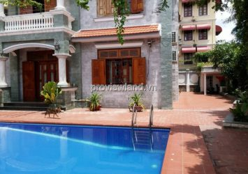 Villa Thao Dien for rent has 2 floors garden swimming pool 780sqm 5BRs