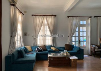 Thao Dien Villa for rent 500sqm 2 floors 6 bedrooms fully furnished