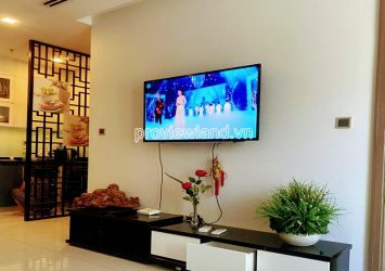 Luxury apartment in Vinhomes Central Park includes 2 bedrooms for rent high floor nice view