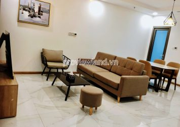 Landmark81 apartment for rent in Vinhomes Central Park with 2 bedrooms on the middle floor