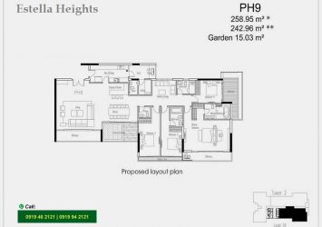 Selling luxury Penthouse at Estella Heights included 4 bedrooms with garden