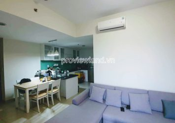 Apartment with 2 bedrooms high floor with river view for rent at block T2 Masteri Thao Dien