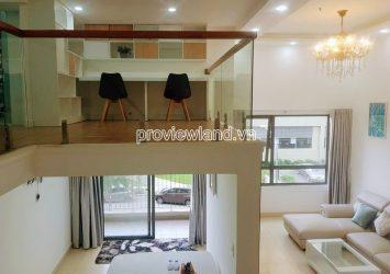 Duplex apartment for rent at Masteri Thao Dien block T5 with 2 floors 2 bedrooms