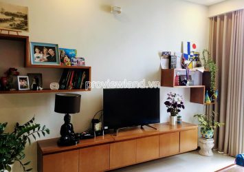 High floor apartment with 2 bedrooms in Block B Thao Dien Pearl for rent