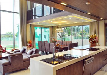 Pool Villa Diamond Island apartment for rent, 550m2, 5 bedrooms, private pool, new furniture 100%