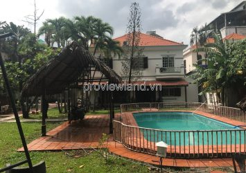 Thao Dien villa for rent on Xuan Thuy street with 2 floors 1285m2 with garden pool