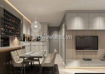 Estella Heights sells luxury T1 Tower apartments with 2 bedrooms on the upper floor green interior view