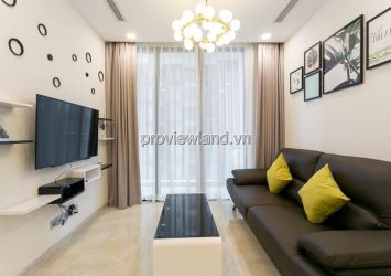 The apartment at Vinhomes Golden River belongs to the A1 low floor building with 1BR fully furnished