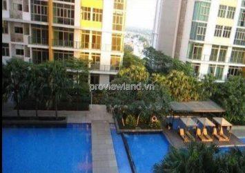 The Vista apartment for rent in District 2 fully furnished 2 bedrooms with pool view
