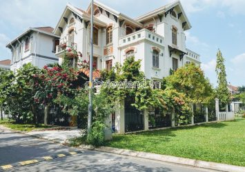 Thao Dien Villa for sale compound riverside 3 floors with garden swimming pool