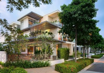 Lucasta Khang Dien Q9 semi-detached villa for sale with 1 ground floor and 2 floors