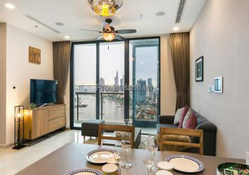 Vinhomes Golden River sells apartments 2 bedrooms river view high floor new luxury furniture Tower A1