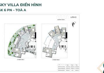 Apartment Sky Villa Sunshine Venicia SUPER 2 floors 6Brs 253sqm for sale