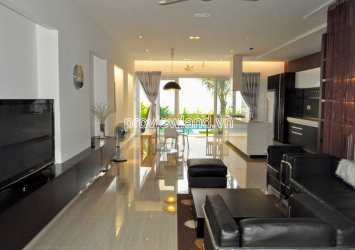 Thao Dien Townhouse for sale has swimming pool facade Street 42 D2 with 3 floors area 7x22m