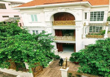 Garden villa for sale 3 floors area 365m2 in Tan Binh HCMC with Koi aquarium