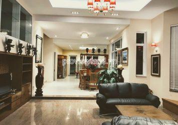 Villa for rent in Fideco Thao Dien District 2 includes 5 bedrooms 3 floors area 350m2
