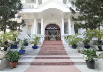 Rent villa Thao Dien, street 41, area land 506m2, 3 floors, 15 bedrooms