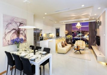 Vinhomes Central Park  apartment 2 bedroomson the middle floor of Landmark 4 tower for rent