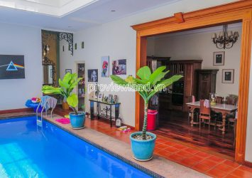 Thao Dien villa at Nguyen Van Huong with garden swimming pool for rent 3 floors 400m2