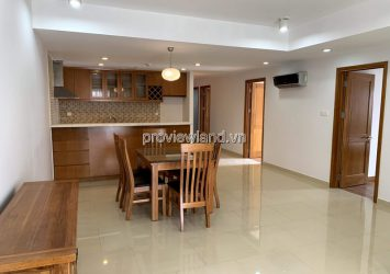 Apartment for rent in River Garden 3 bedrooms basic furniture pool view