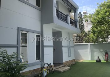 Thao Dien villa for rent on Quoc Huong street, 975m2 total 3 villas