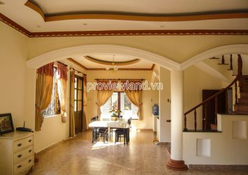 Thao Dien swimming pool villa for rent with 3 floors 4 bedrooms area 210m2
