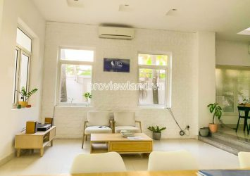 Fideco Villa for rent in Thao Dien District 2 includes 3 floors with area 450m2