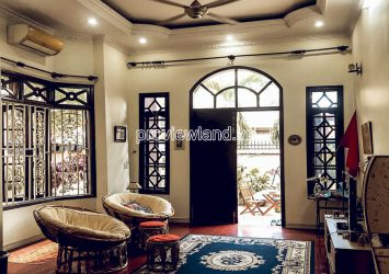 Villa Thao Dien for rent in District 2 includes 3 floors 5 bedrooms with area 9x22m