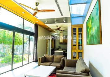 New Thao Dien Villa for rent with architecture 3 floors 4 bedrooms land area 310m2