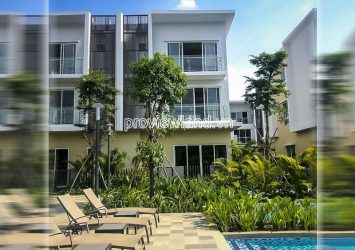 Townhouse 3 floors for rent in Palm Residence District 2 area 8x17m