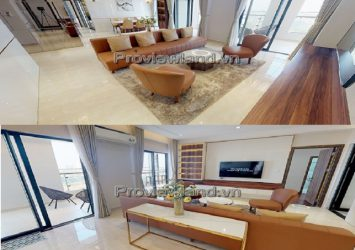 Penthouse Centana Thu Thiem for rent 3 bedrooms view Bitexco