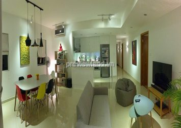 River Garden apartment for rent on middle floor B Tower with 2 bedrooms fully furnished
