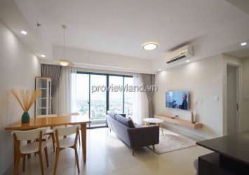 Apartment corner with 3 bedrooms nice furniture for rent in Masteri Thao Dien