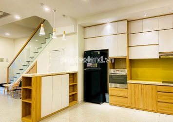 Townhouse adjacent at Palm Residence D2 for rent 3 floors 4 bedrooms with area 6x17m