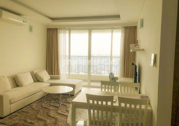Thao Dien Pearl D2 apartment need for rent 2 bedrooms high floor block B nice view